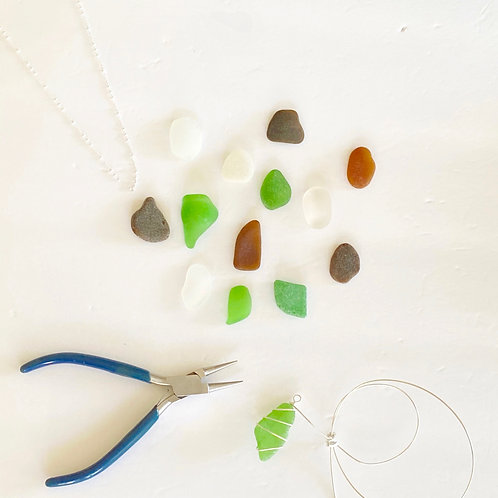 DIY Wire Wrapped Sea Glass Necklace Kit