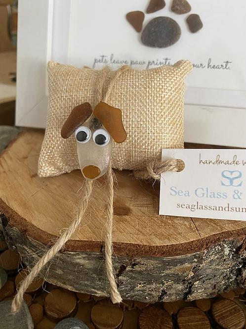 Sea glass dog ornament  #9