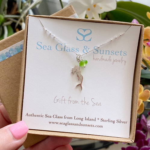 Mermaid Soul Sea Glass Necklace