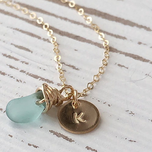 Mini Gold Filled Initial Necklaces