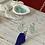 Thumbnail: Cobalt and sea foam sea glass necklace