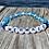 Thumbnail: Mermaid glass stretchy word bracelets