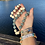 Thumbnail: Sterling silver MERMAID cuff bracelet with recycled glass