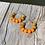 Thumbnail: Orange Wooden bead hoop earrings