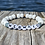 Thumbnail: Mermaid glass and wood stretchy word bracelets