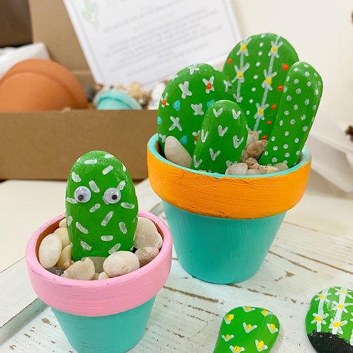DIY Painted Rock Cactus Garden Kit