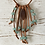 Thumbnail: Boho fringe sea foam faux suede necklace