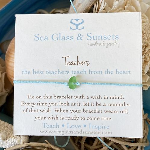 Teachers Wish Bracelet (set of 7)