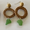 Thumbnail: Beachy bohemian green sea glass earrings