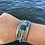 Thumbnail: Magnectic cuff bracelet with recycled glass