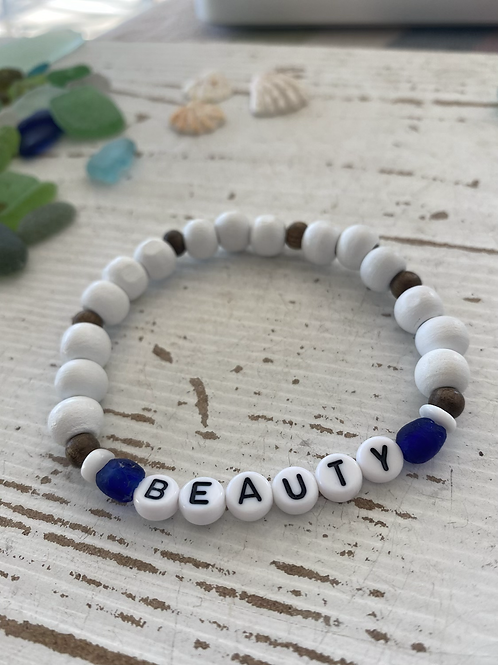 Beauty stretchy word bracelet