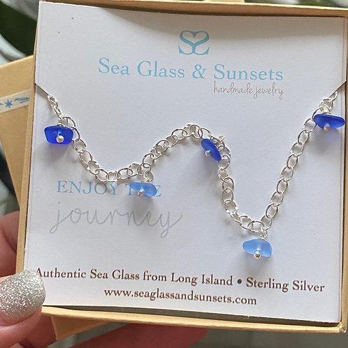 Sea goddess sea glass bracelet/anklet