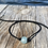 Thumbnail: Faux Suede Recycled Glass Necklace/Braclet