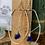 Thumbnail: Cobalt sea glass chain dangled earrings