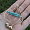 Thumbnail: Gold and turquoise clam shell statement earrings