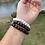 Thumbnail: stretchy sea glass word bracelet