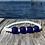 Thumbnail: Blue recycled glass bead bracelet