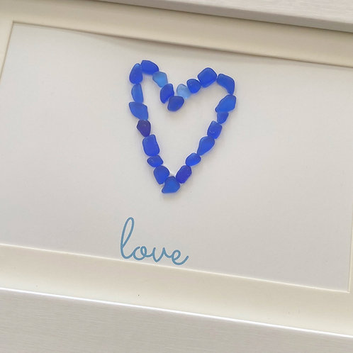 Cobalt blue heart frame