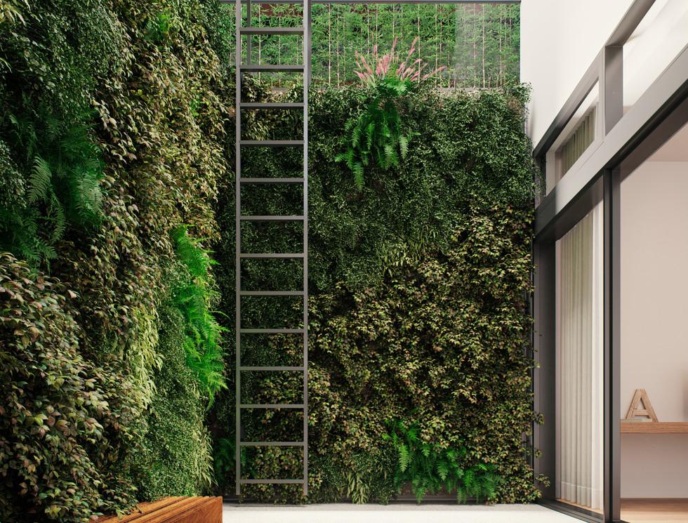 Sunken Patio | Living Wall