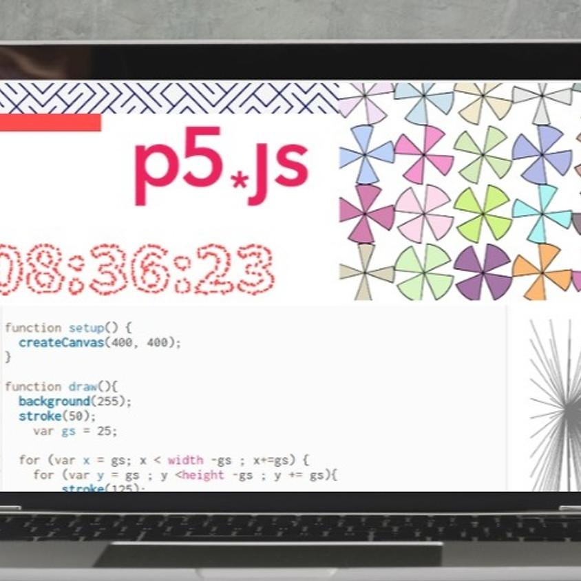 תכנות יצירתי באמצעות P5JS