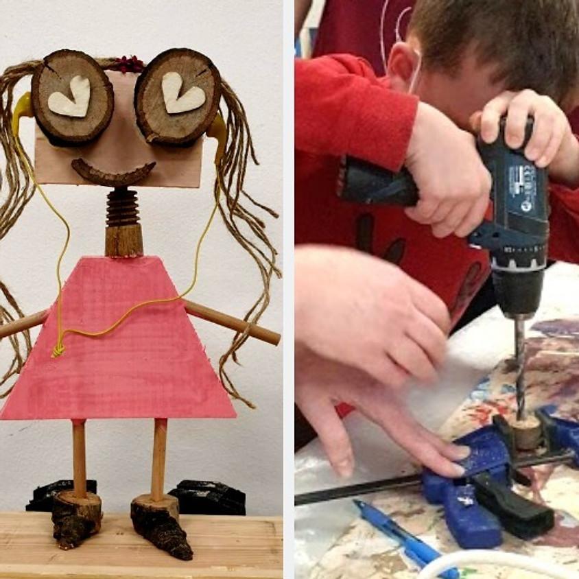 סדנת נגרות - רובוט מעץ