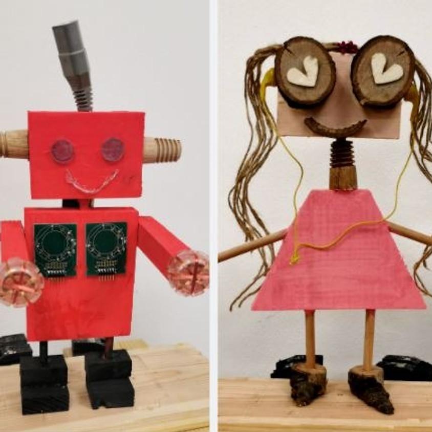 רובוט מעץ - סדנת נגרות פיזית במתחם