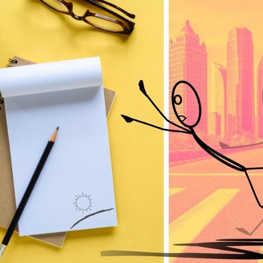 סדנה מקוונת - פנקס אנימציה: על תנועה, אשליות ואנימציה