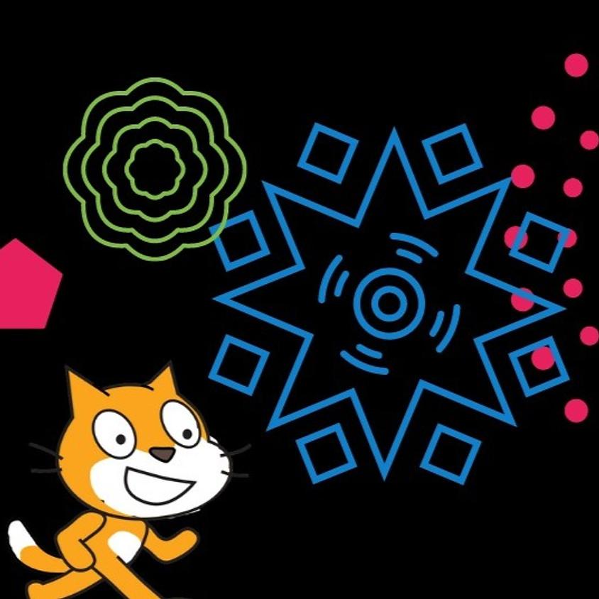 סדנה מקוונת - ציור באמצעות תכנות בבלוקים בתוכנת סקראצ'