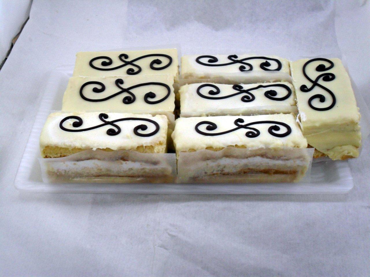 pastel de choco blanco.