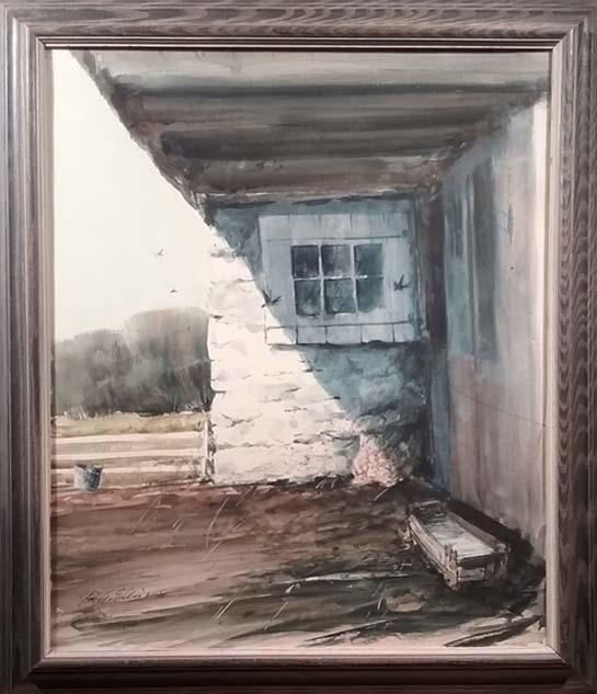 Barn Swallows-framed
