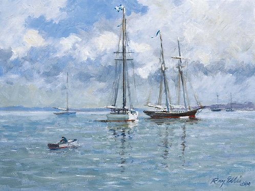 SCHOONERS AT HOLMES HOLE
