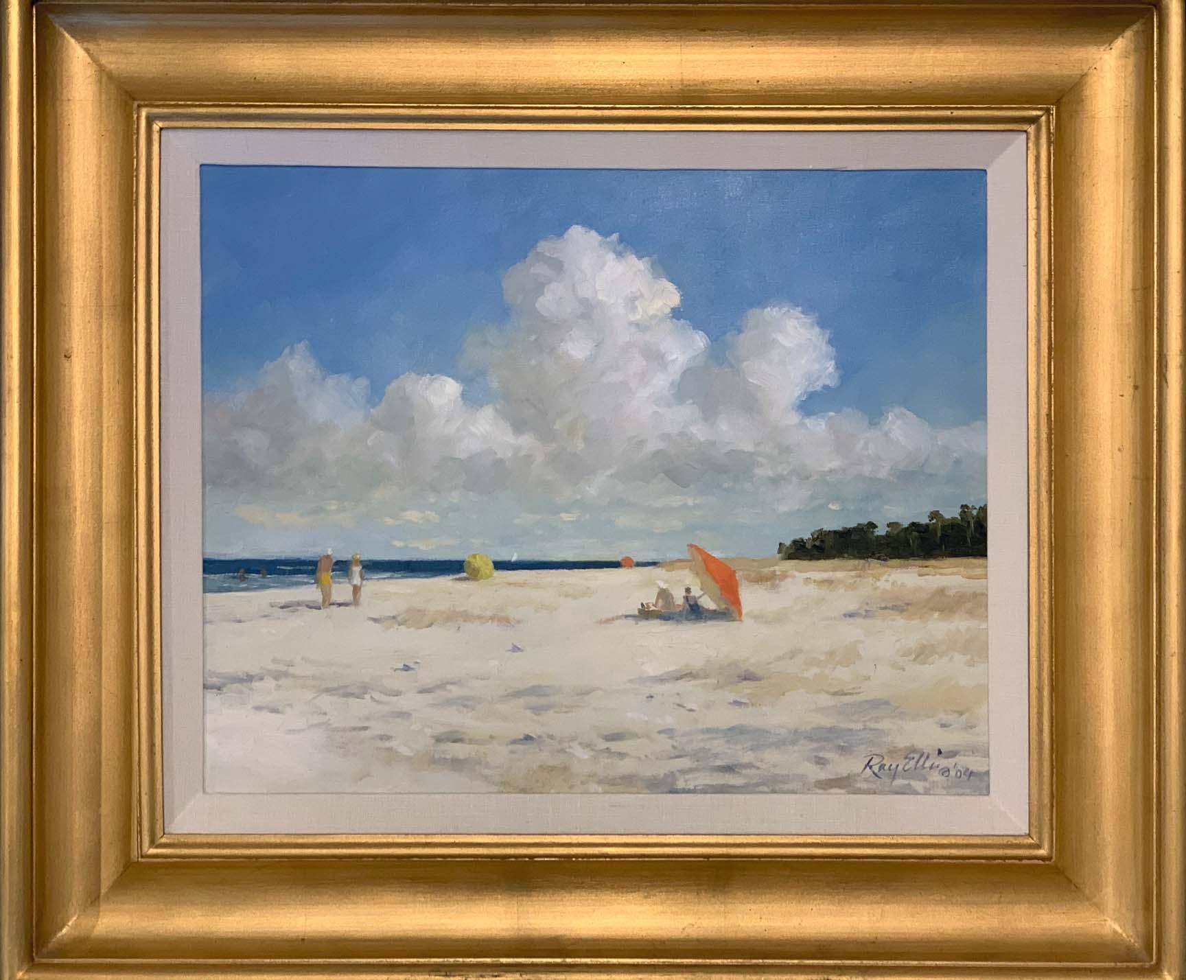 Morning at the Beach-framed
