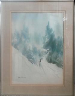 Skier-framed