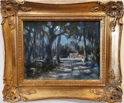 Moonlit Road-framed