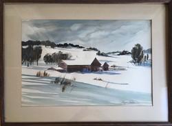 Farm in Winter-framed