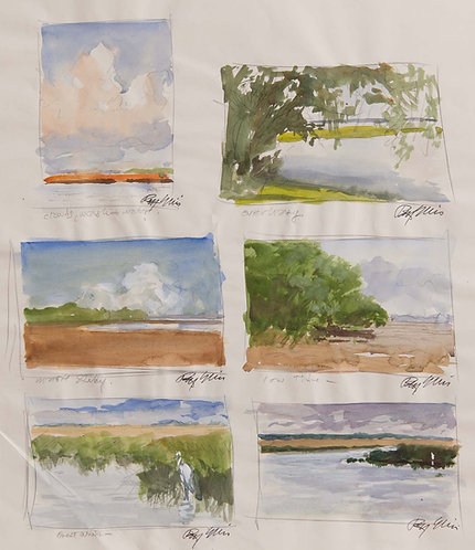 Marsh Sketches (6)