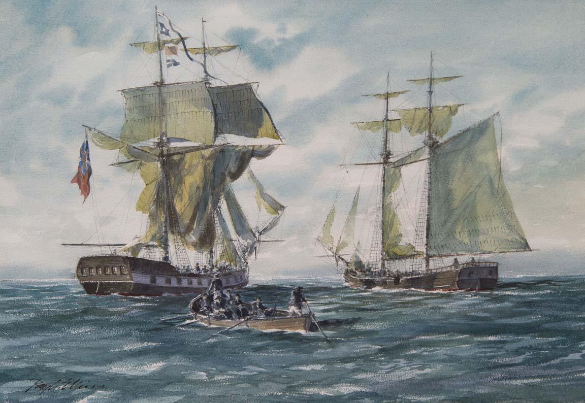 Capture of the Brig Nancy by Schooner Lee