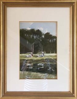 Cart Reflections-framed