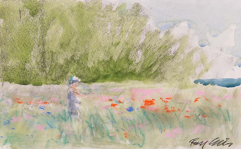 Picking Wildflowers - Sketch