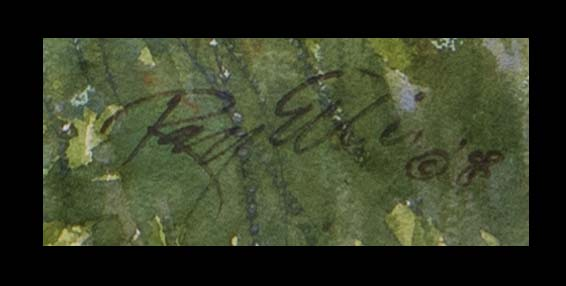 Trip to the Garden, signature