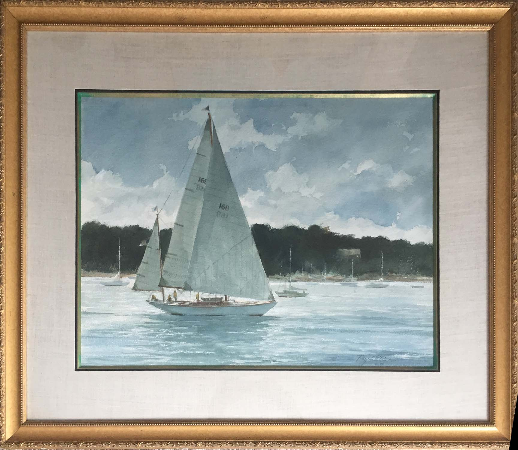 Sailing Katama-framed