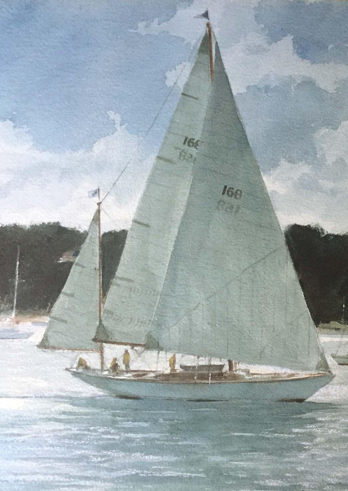 Sailing Katama-detail