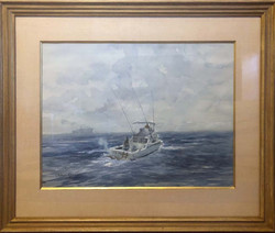 Through the Shipping Lanes-framed