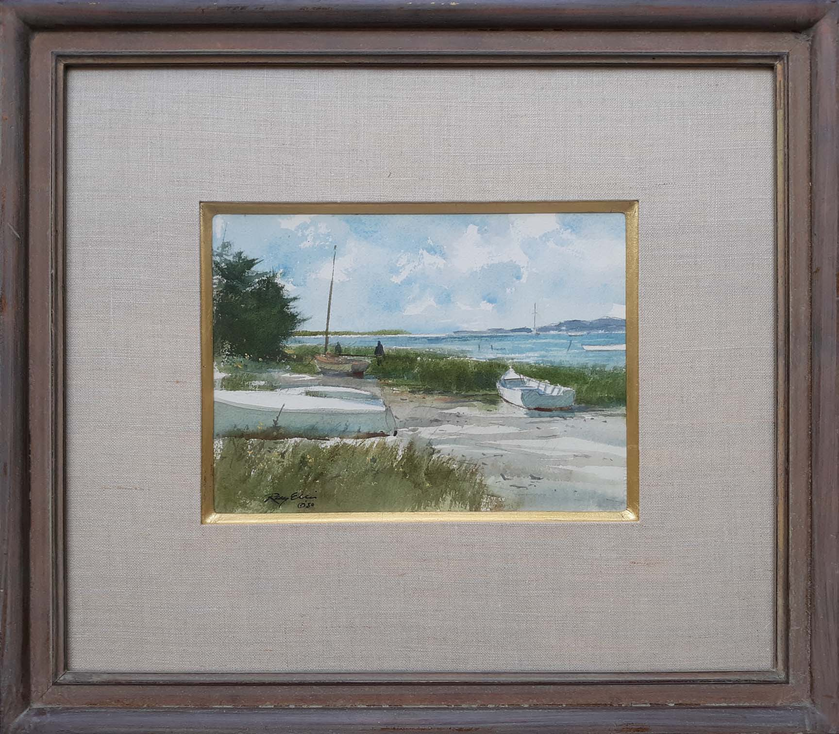 Beached Boats-framed