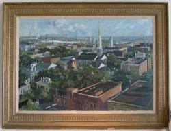 Savannah Rooftops, framed