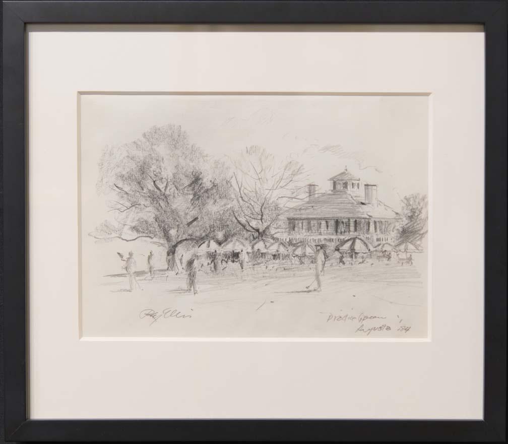 Practice at Augusta-framed