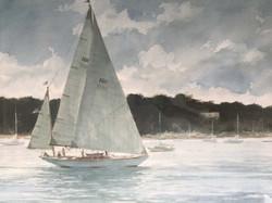 Sailing Katama - Edgartown Harbor