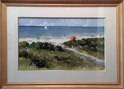 Beach Patterns-framed