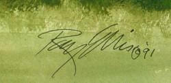 Church Pews, signature