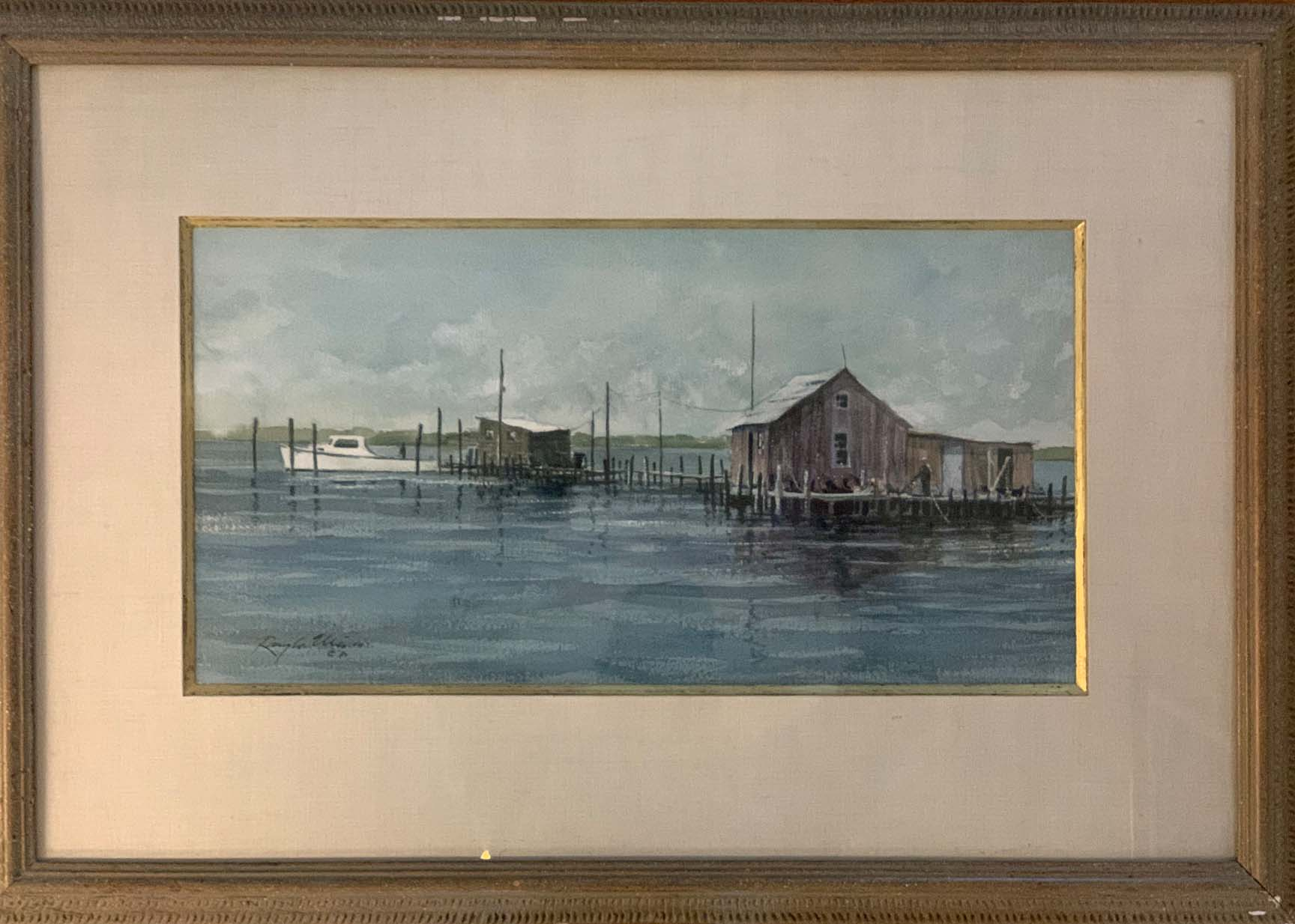 Crab Docks-framed